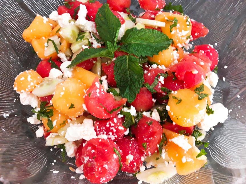 salade melon-pastèque-concombre 3